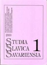 Studia Slavica Savariensia1