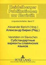 Varietäten im Slavischen1